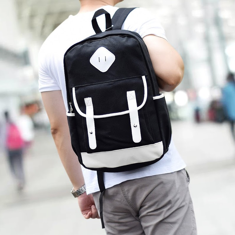 ultimate tas pria kanvas backpack tas sekolah   ransel punggung kuliah    fancy js-8191  f73425cba7