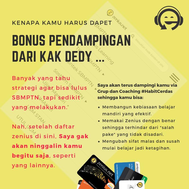 Voucher Zenius Net Daftar Premium Bonus Didampingi Kak Dedy Shopee Indonesia