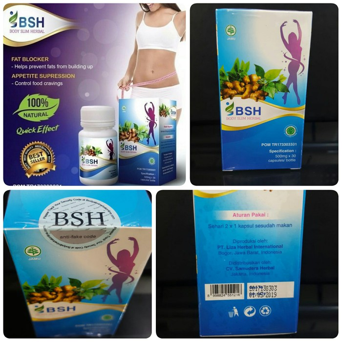 NEW BSH KAPSUL ORIGINAL BPOM / BODY SLIM HERBAL ASLI BERBPOM / BSH SLIMMING CAPSULE /BSH ORI | Shopee Indonesia