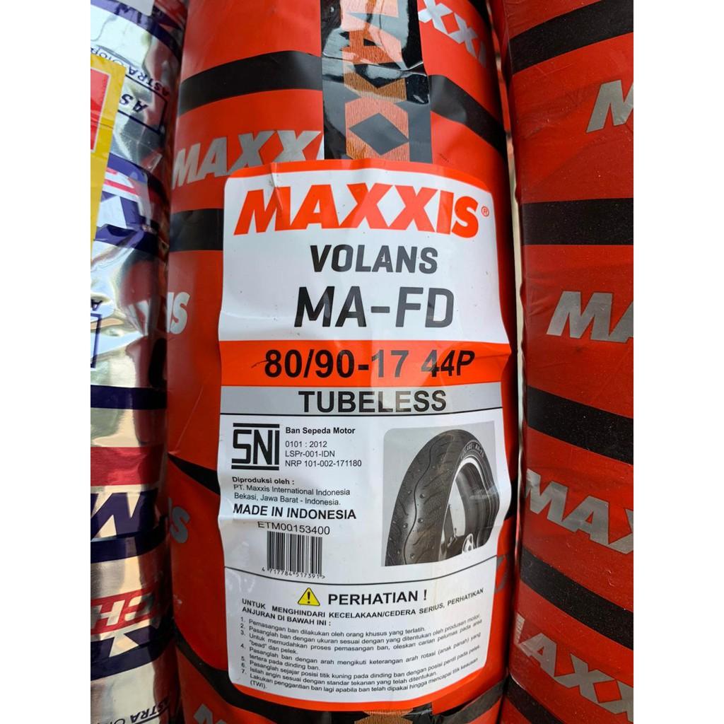 Ban Motor Maxxis 80/90-17 Tubeless