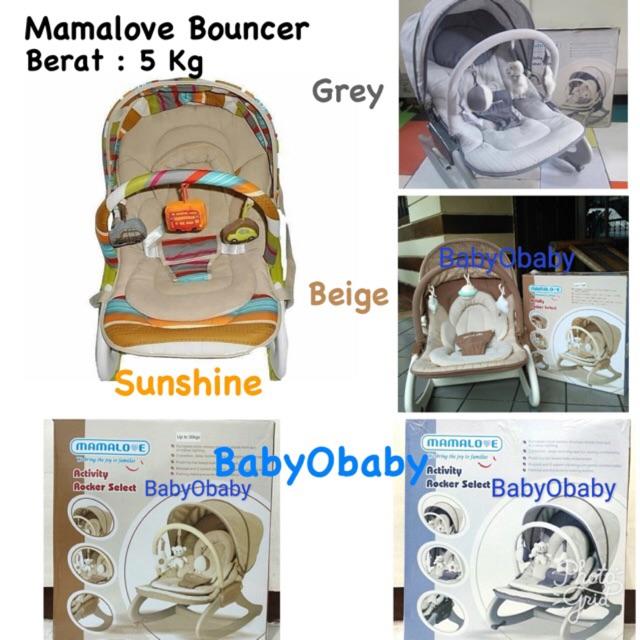 Bouncer Mamalove / Kursi Bayi / Mamalove / Kursi Goyang / Mamalove Bouncer / Bouncer Baby Rocker | Shopee Indonesia
