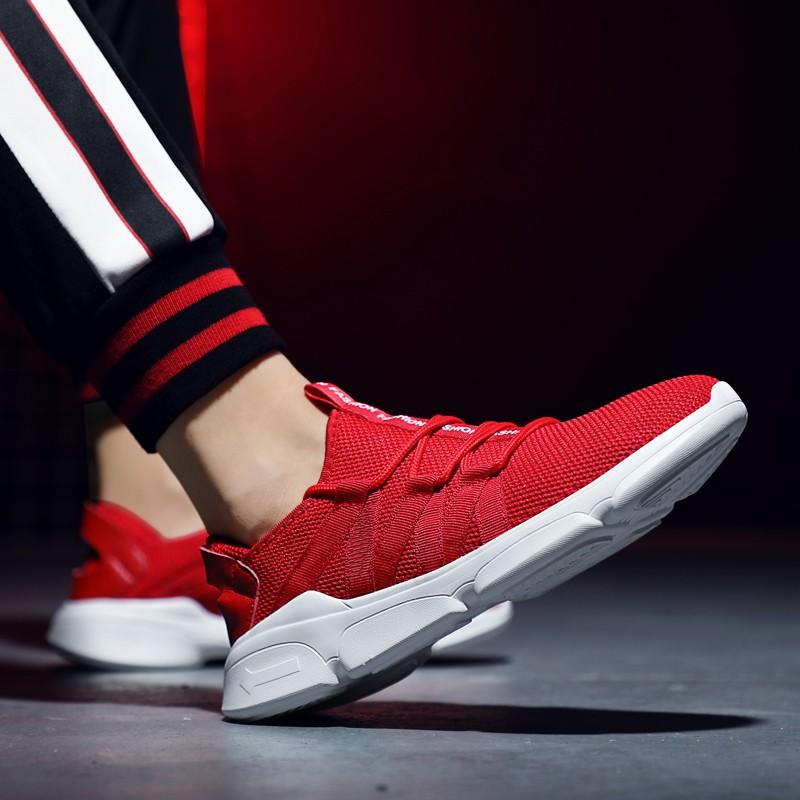 Sepatu Sneakers Olahraga Lari Casual Ukuran Besar untuk Pria
