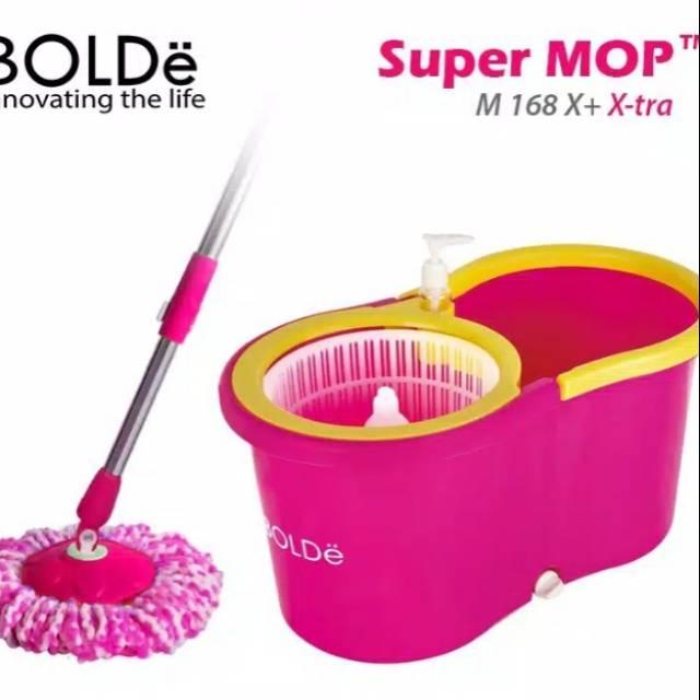 BOLDE SUPER MOP M 168 X+ X-TRA (PINK) alat pel lantai supermop