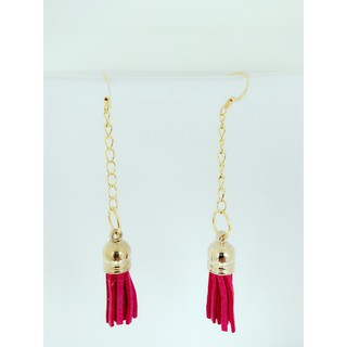 LRC Anting Elegant White Fuzzy Ball Pendant Decorated Pure Color Pom Earrings. Source · Anting