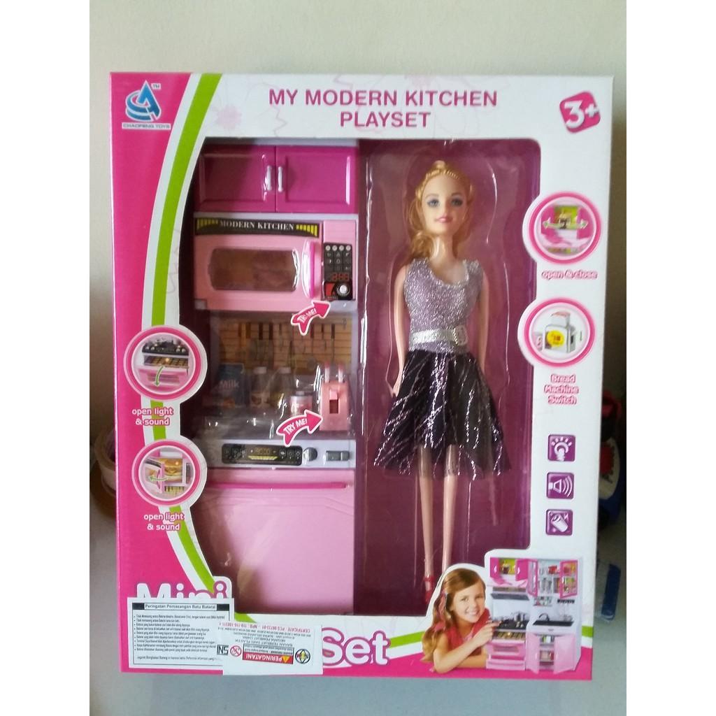 Mainan Anak Kitchen Set Dapur Modern Dg Boneka Mainan Masak Masakan Shopee Indonesia