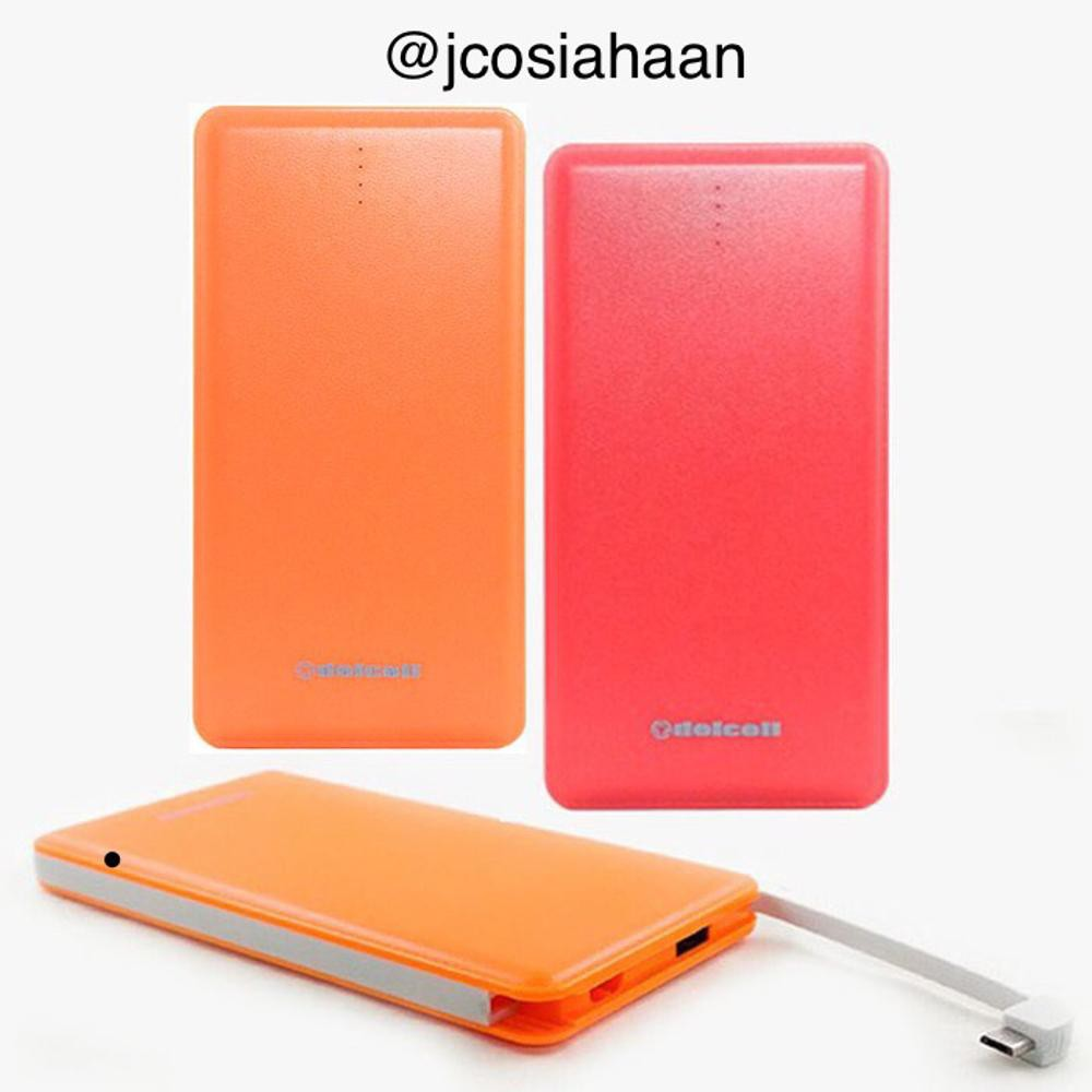 ORIGINAL Unik Powerbank DelCell Note Black 10500 Mah Garansi Resmi Orange Berkualitas TERMURAH | Shopee Indonesia