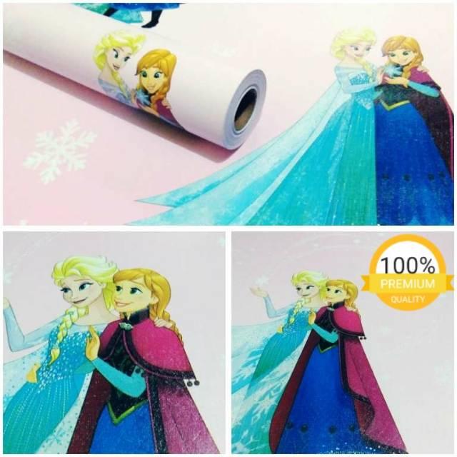 Wallpaper Sticker Dinding Termurah Kamar Anak Kartun Frozen Lucu Kualitas