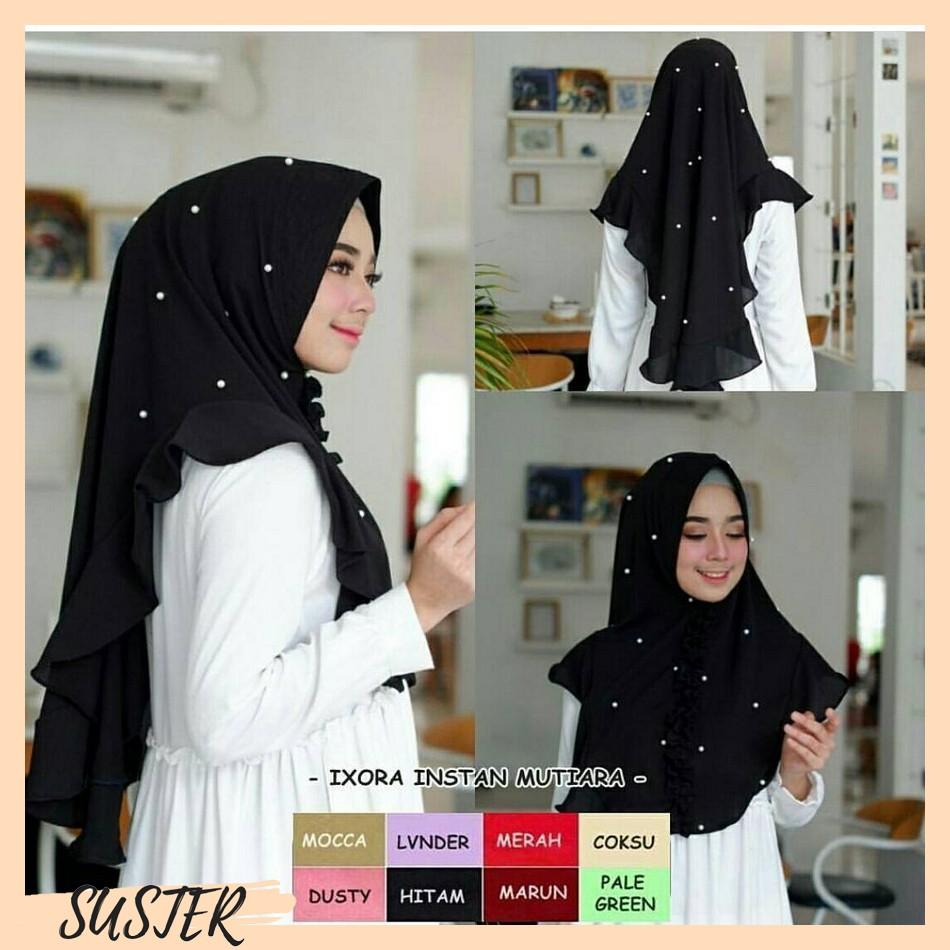 JIlbab Instan Syari Hijab Khimar Ceruti Serut Syari Rempel Ananta Murah | Shopee Indonesia