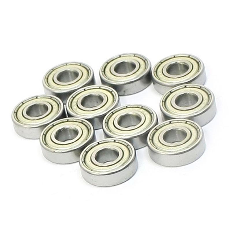 10 Pcs 5mm x 16mm x 5mm Metal Sealed Shielded Deep Groove Ball Bearing