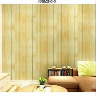Wallpaper Dinding Murah Motif Kayu Natural Kamar Tidur Ruang Tamukeluarga Indah Simple Minimalis