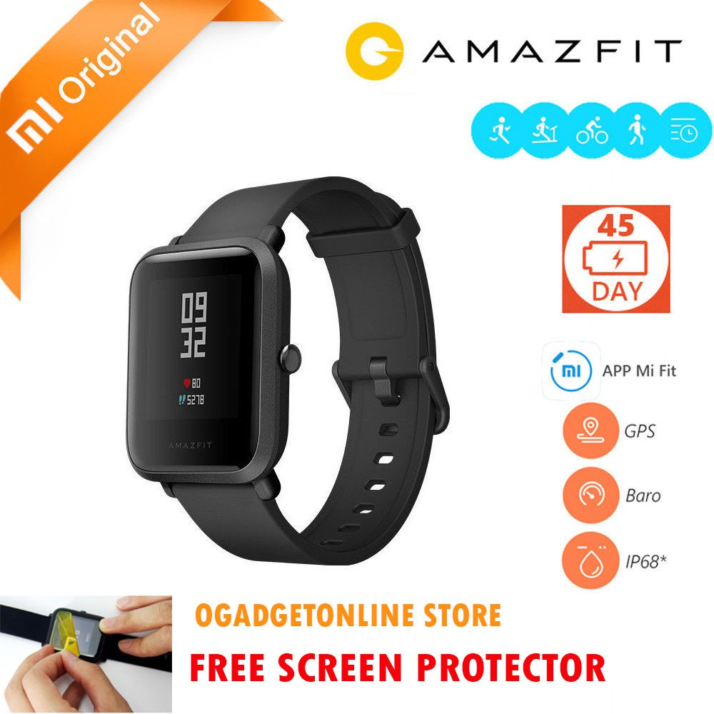 Xiaomi Huami Amazfit Bip International English Version Smartwatch Bri Mifa F10 Bluetooth Portable Outdoor Speaker Ipx6 Waterproof Shopee Indonesia
