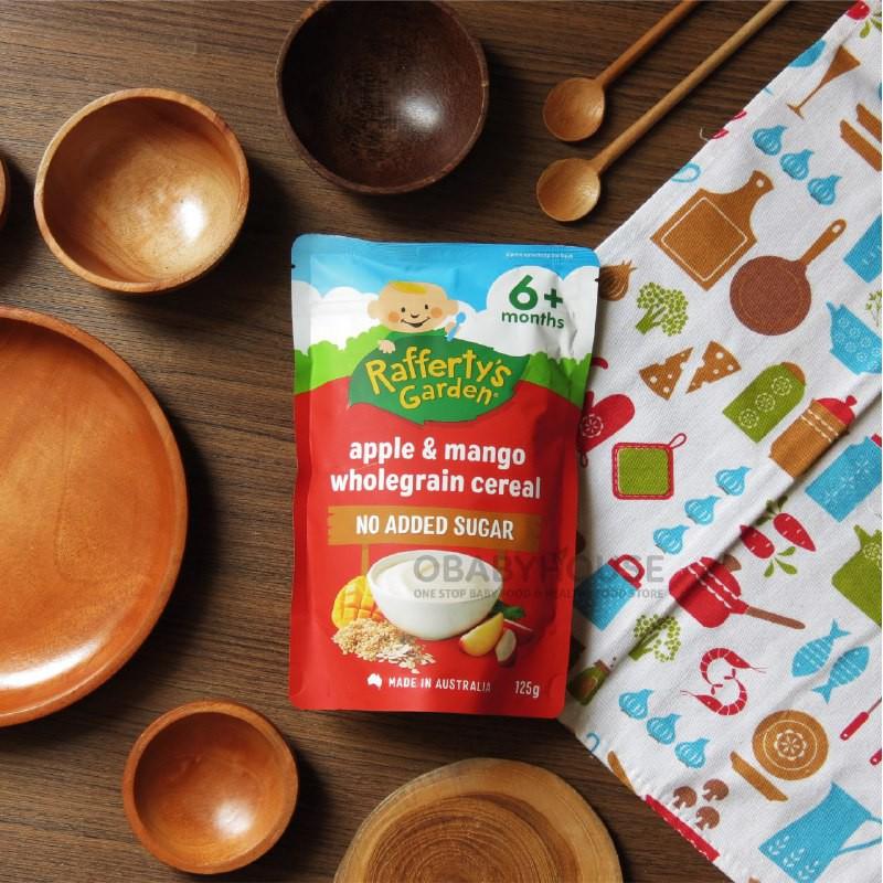 Rafferty's Garden Apple & Mango Wholegrain Cereal 6+ months 125 g