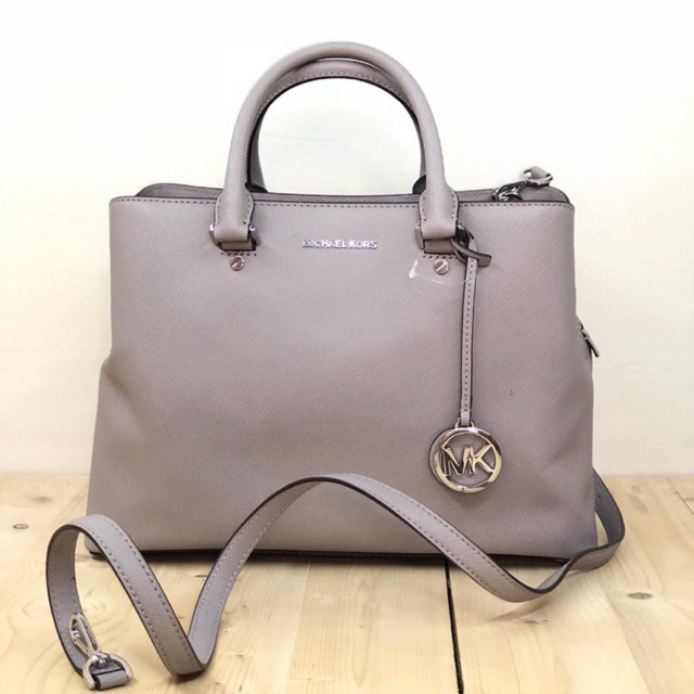 f49660697a1 Tas Mk original/Michael kors savannah large satchel pearl grey ...