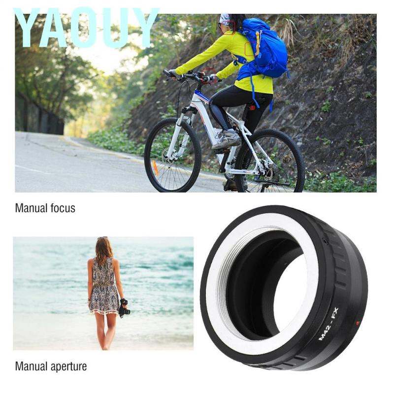 M42-FX Metal Lens Mount Adapter Ring for M42 Mount Lens to for Fujifilm FX Interchangeable Lens Digital Cameras with Hex Wrench