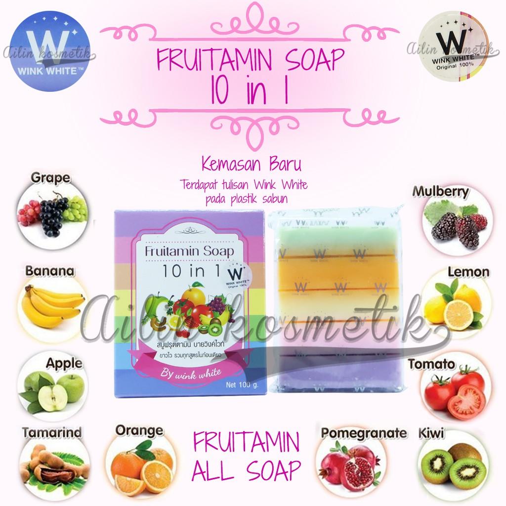 Fruitamin 10 In 1 Soap By Wink White Original Thailand Shopee Frutamin Sabun Indonesia