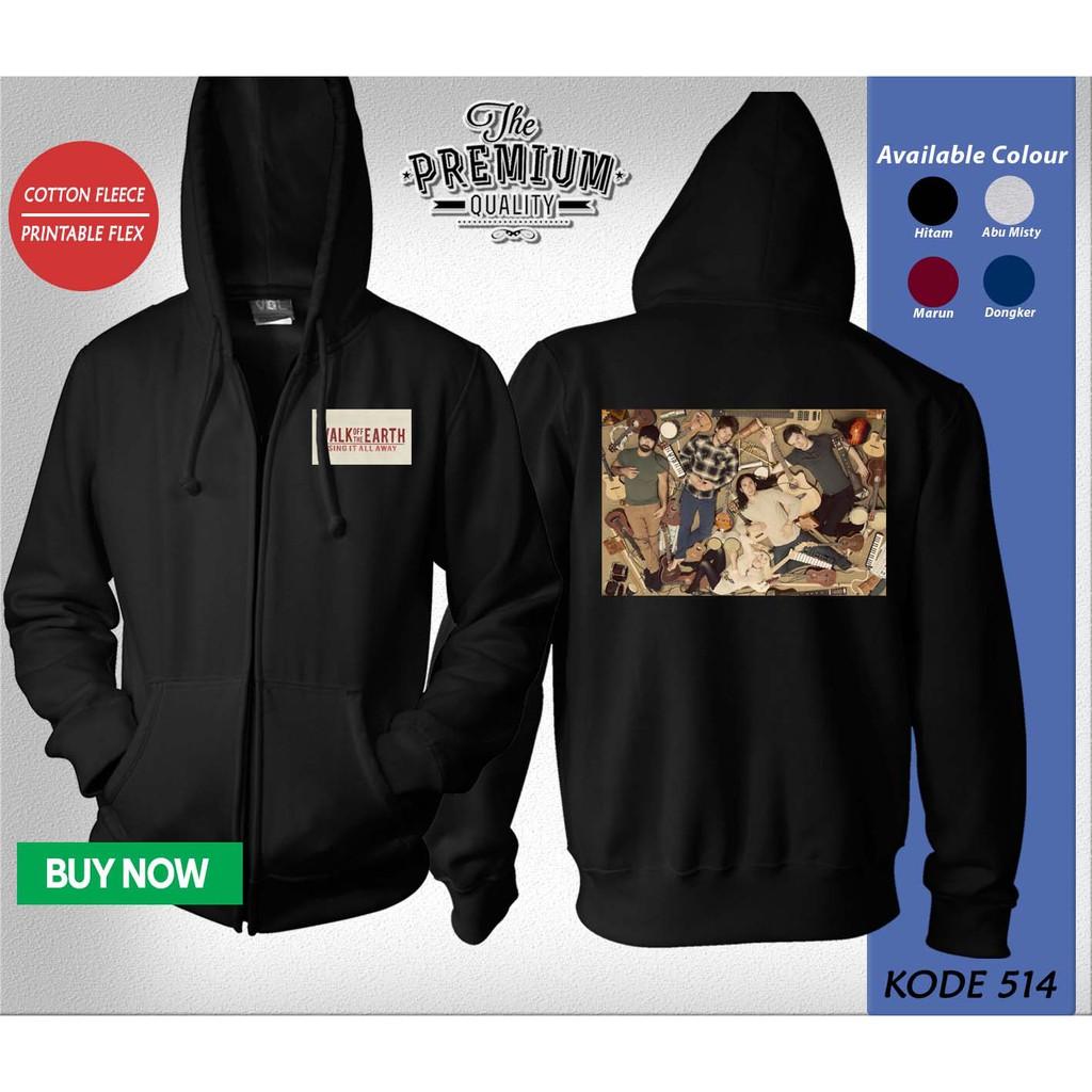 Jaket Hoodie Sweater Band Oasis Shopee Indonesia Fleece Silver Misty