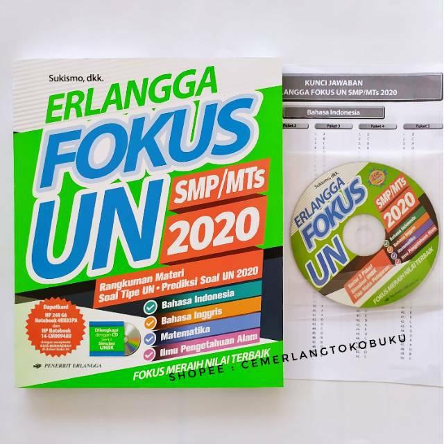 Buku Erlangga Fokus Un Smp Mts 2020 New Original 100 Shopee Indonesia