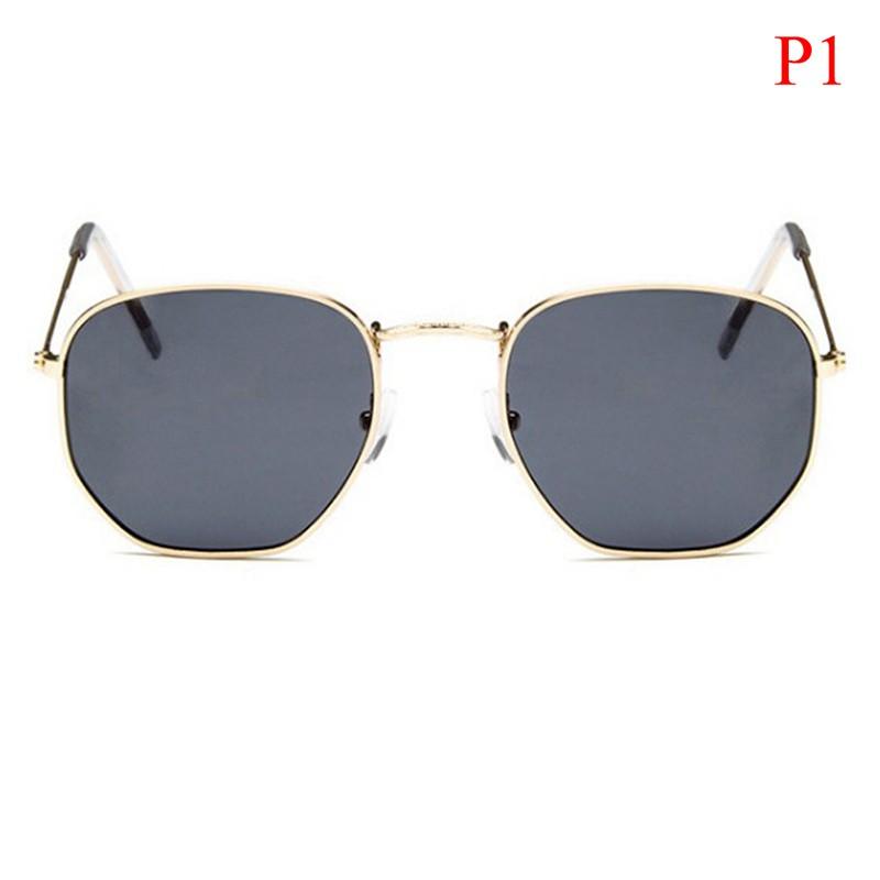 [Bayar Di Tempat]Topl Kacamata Hitam Retro Kecil Persegi Kualitas Tinggi untuk Pria /