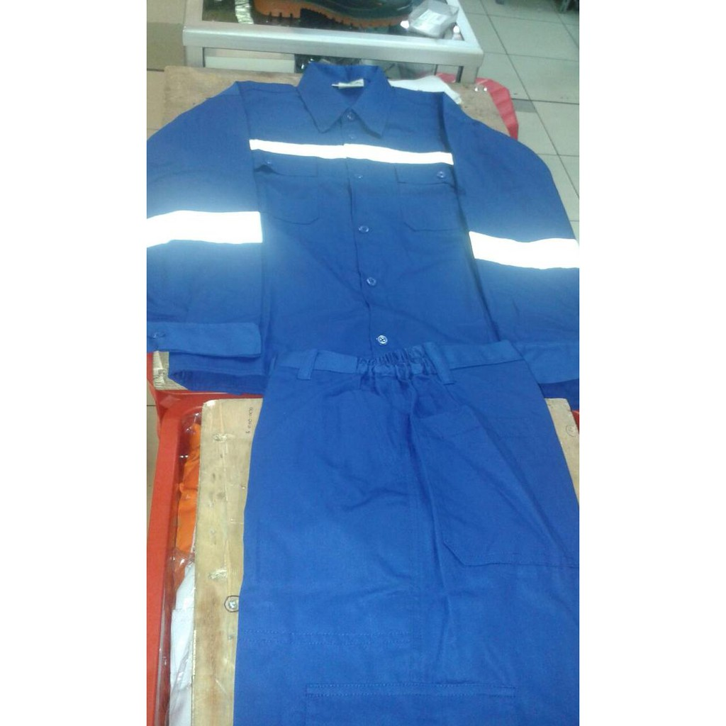 Setelan Loreng Celana Baju Shopee Indonesia Wearpack Safety Werpak Wearpak 3triocollection