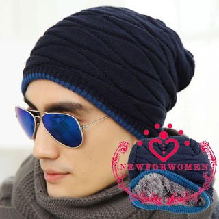 Topi Kupluk Pria   Wanita Bahan Fleece Rajut Hangat Gaya Hip Hop untuk Musim  Dingin bfe0832e3c