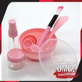 Set Alat Masker Wajah 9in1 Travel Make Up Korea Mini Tool Bowl Mask Mangkok Masker Spray Spons Brush thumbnail