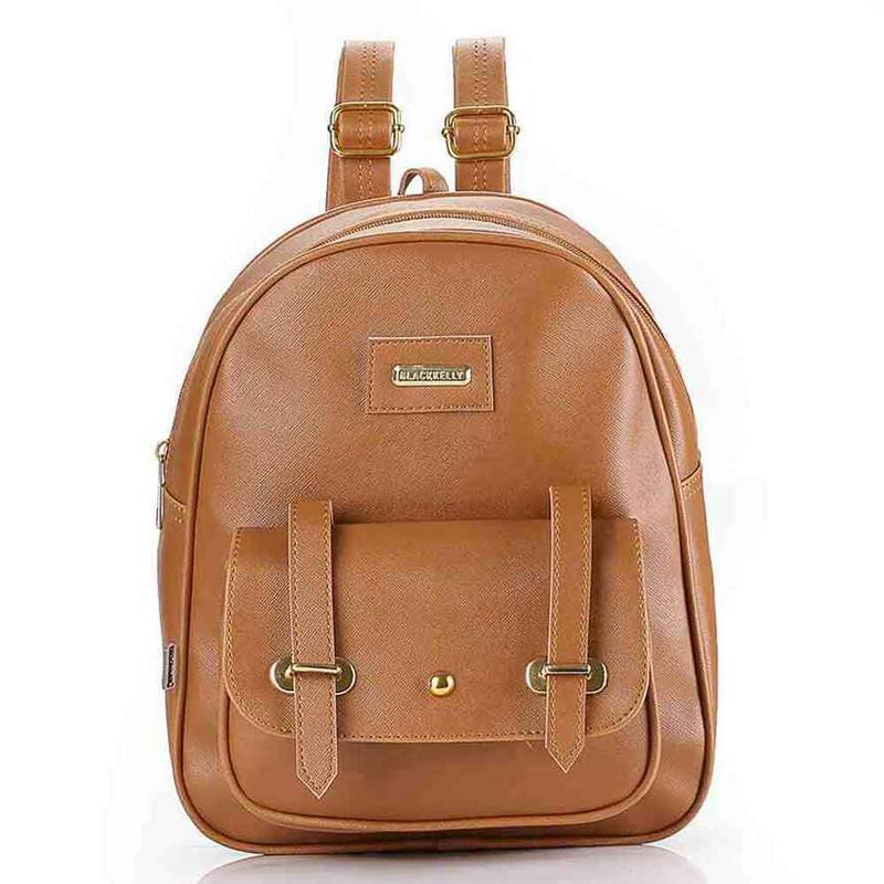 Tas Ransel Punggung Backpack Fashion Wanita Cewek Cewe Terbaru Warna Coklat LFK  168 BY 63ef2e99df