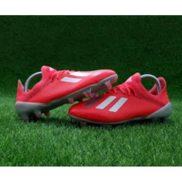 Sepatu Bola Adidas X 19 1 Red Silver Shopee Indonesia