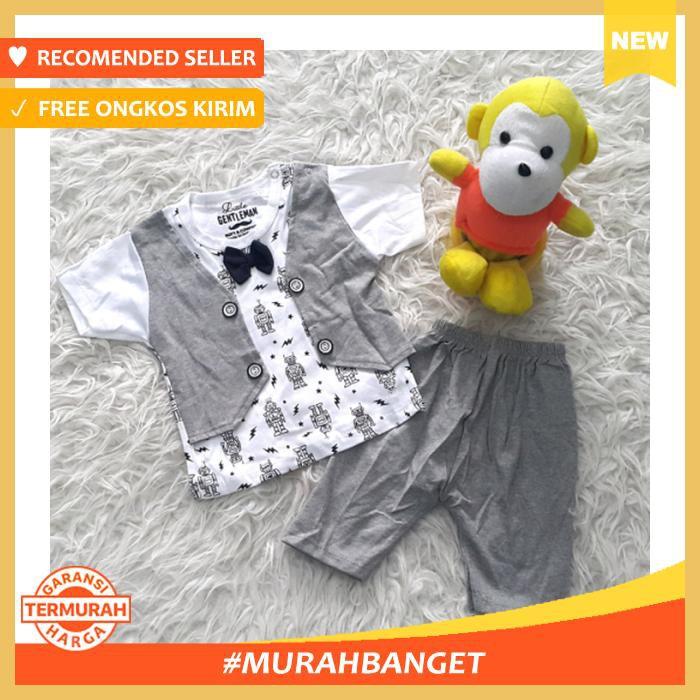 Baju Bayi Setelan Jas Tuxedo Pesta Kondangan Anak Laki Rompi Biru LG Terbaru Best Quality |