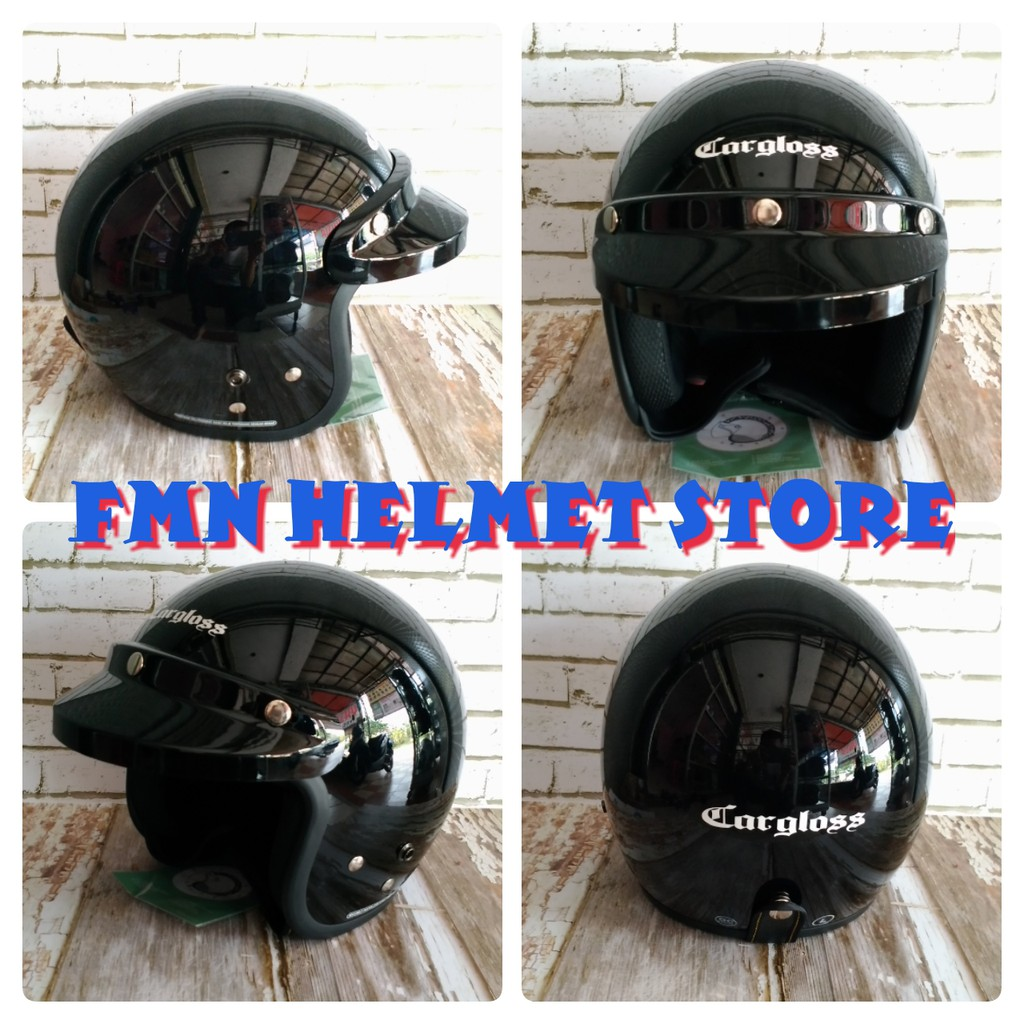 Helm Cargloss Ycn New Oackley Half Face White Met6 Shopee Indonesia Mxc Pro Racing Motocross Orange Sp Whity Putih Size Xl