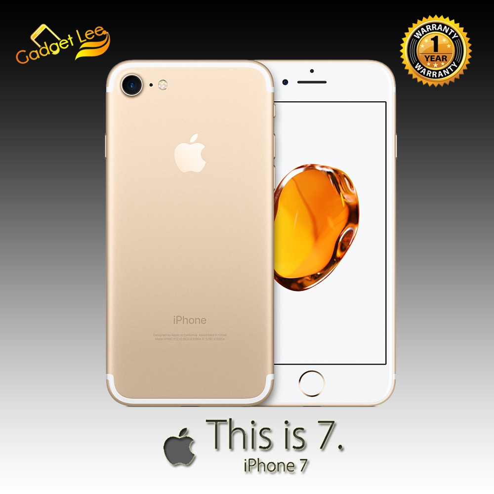 New Iphone 7 128gb Black Gold Rose Red Garansi 1 Tahun Shopee