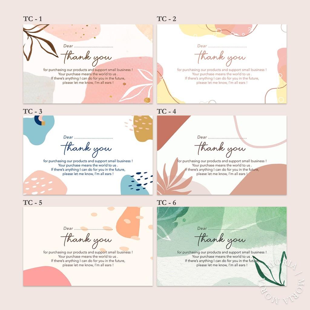 Custom Thank You Card / Kartu Ucapan Terima Kasih ...