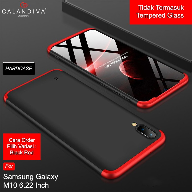 Calandiva Hard Case Samsung Galaxy M10 (6.22 Inch) Casing Premium Front Back 360 Full