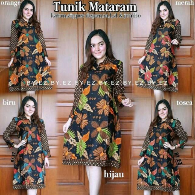 Download Baju Batik Wanita: TUNIK BATIK MOTIF MATARAM TUNIK WANITA BAJU BATIK WANITA