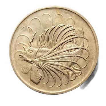 Koin 50 Cents Singapura Ikan 1967-1984