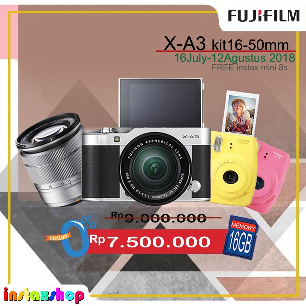Fujifilm X A3 Kit 16 50mm Ois Ii Resmi Shopee Indonesia Silver