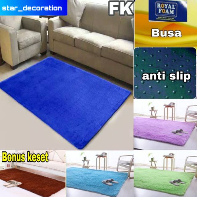 Karpet bulu rasfur uk 150x100x2cm Shopee Indonesia