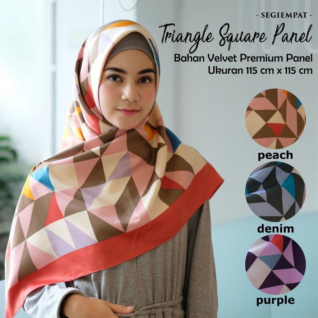 Segiempat Velvet Plain Shopee Indonesia