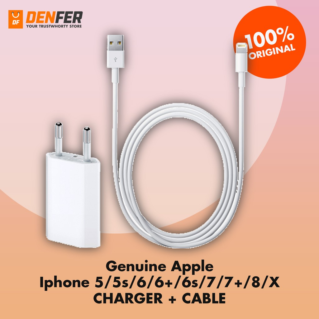 100 Original Iphone 5s 6 6s 7 8 X Charger Cable Plus Ios 10 Kabel Data Apple Iphone5 Lightning Ori Shopee Indonesia