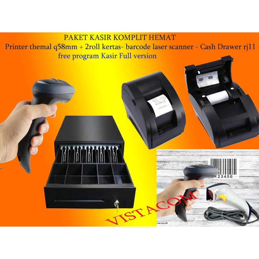 Paket Kasir 3 Shopee Indonesia Xprinter Xp Q200ii 80mm Thermal Printer Pos Auto Cutter