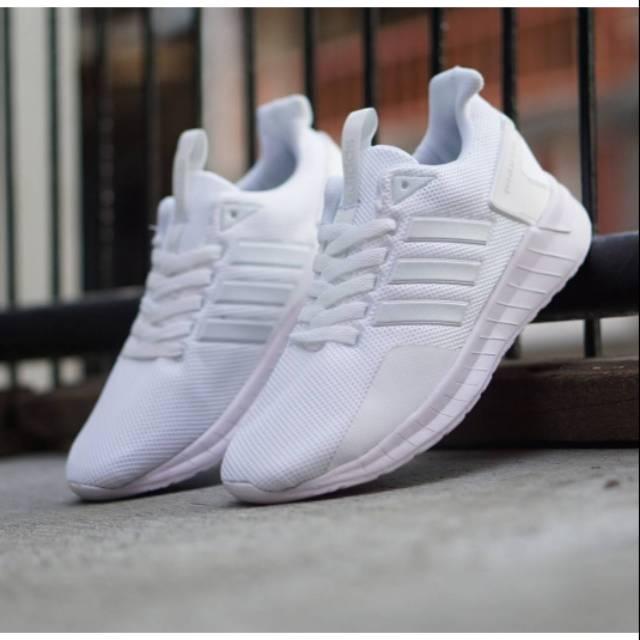 Obral Sepatu Adidas Questar Ride Full White 37 44 Sneaker Putih