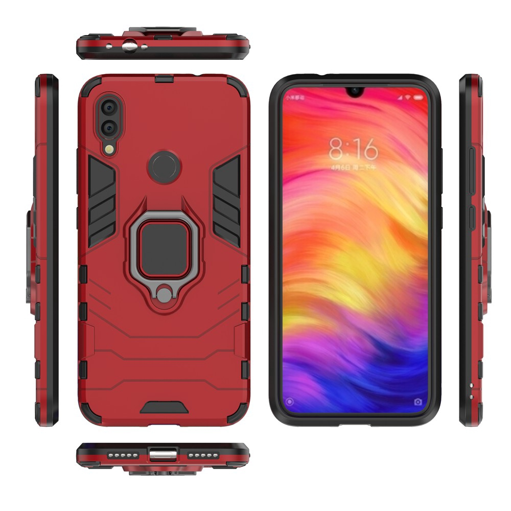 Xiaomi Redmi 7 Note 7 Pro Ring Bracket Back Cover Armor Hard Case Shopee Indonesia