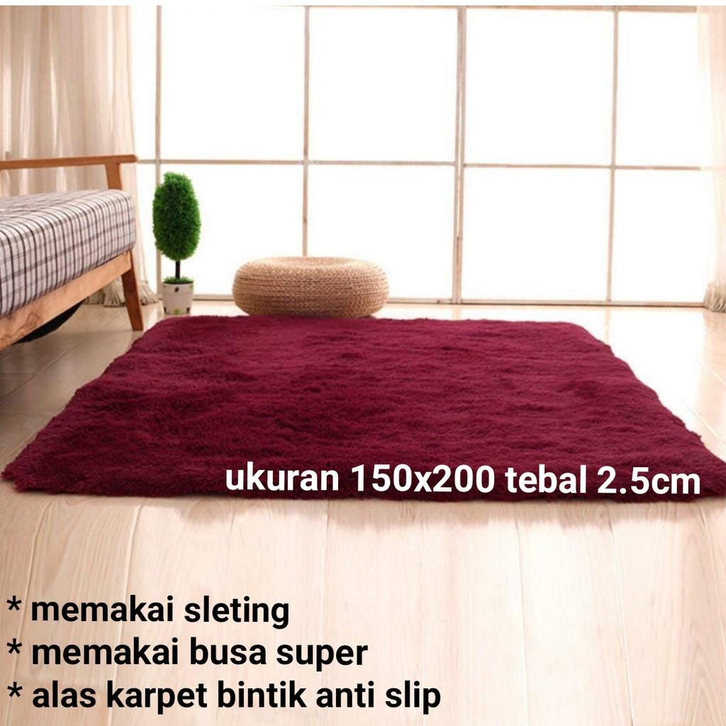 Karpet Busa Laspure 150x200 Tebal 4cm Shopee Indonesia Matras Bulu Uk 200x150x3cm
