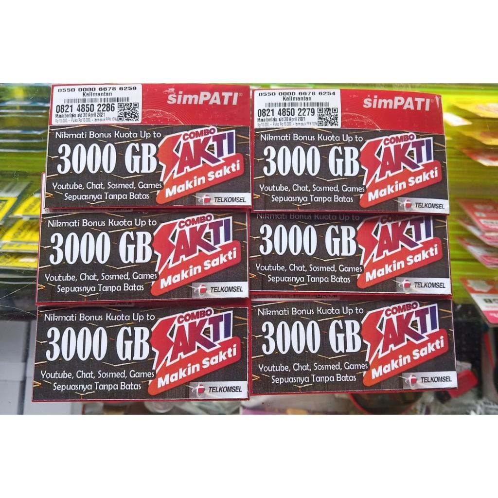 Kartu sakti telkomsel unlimited max bonus hingga 3000 GB