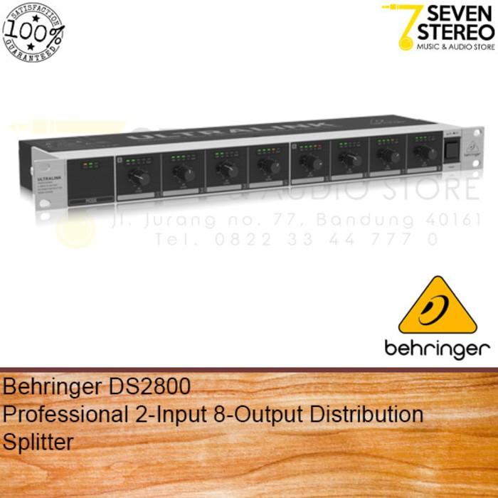 PERALATAN MUSIK Behringer DS2800 Audio Splitter 2 Input 8 Output
