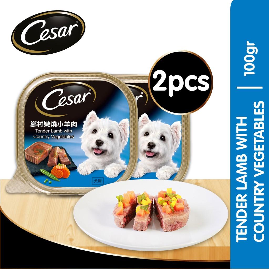 Cesar Makanan Anjing Basah Rasa Tender With Country Veg 100 G