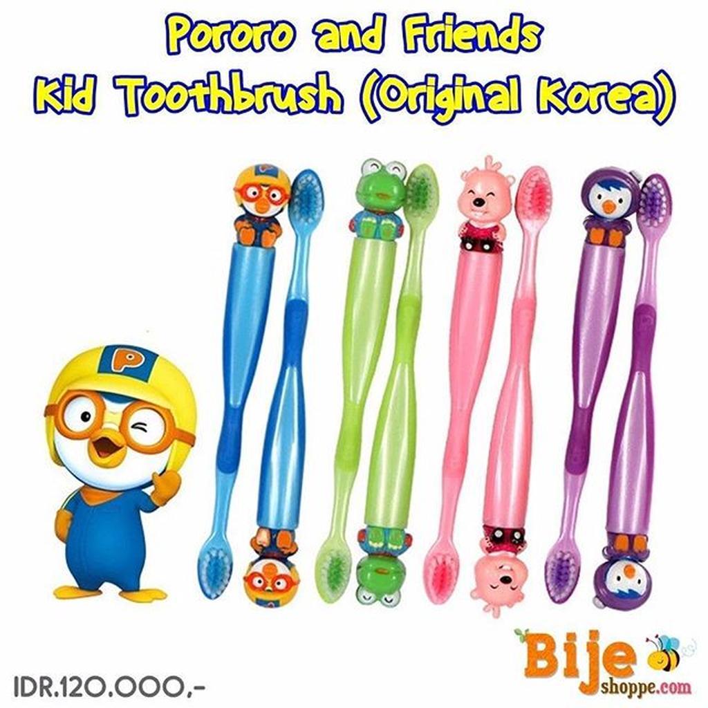 Pororo And Friends Kids Toothbrush Original Korea Edison Chopsticks Training Ori Shopee Indonesia