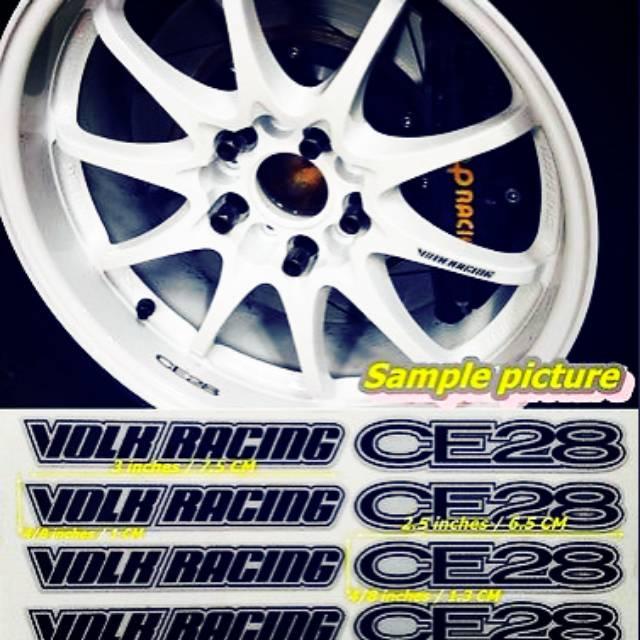 Sticker Velg Mobil Volk Racing Rays Ce28 Like Original Best Quality