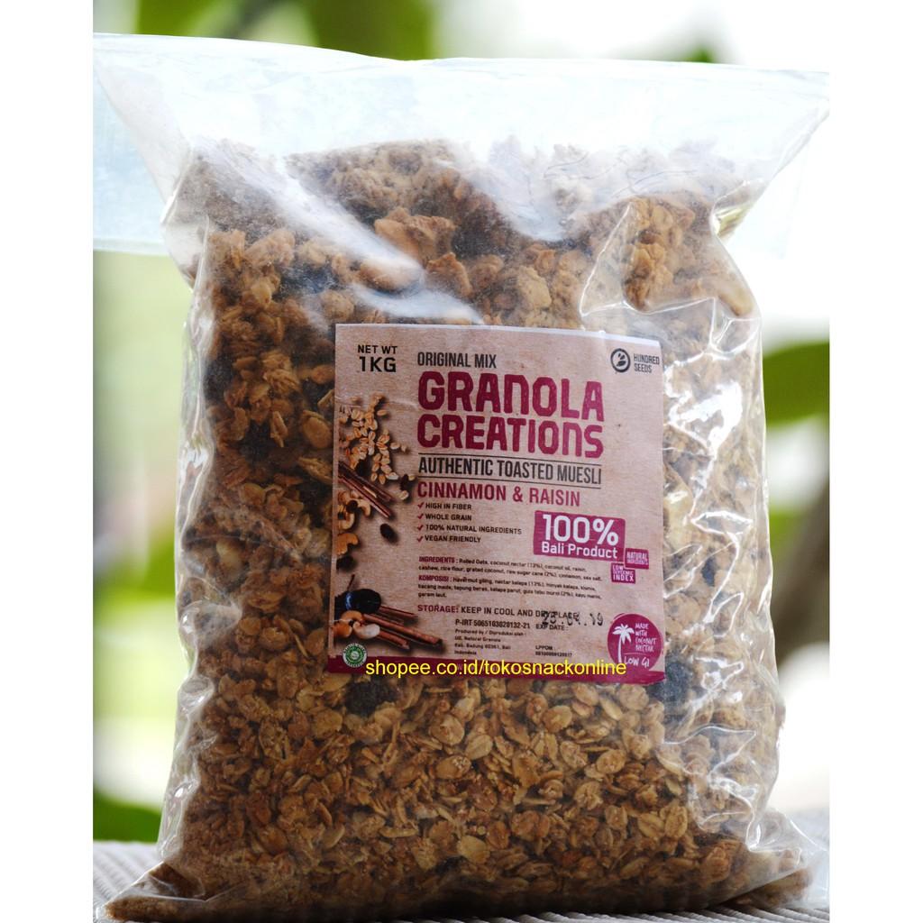Hundred Seed Granola Creations 1kg Cinnamon Snake Fruit Shopee Indonesia