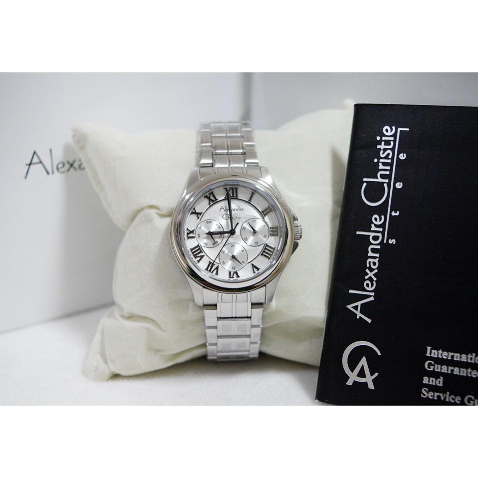 Alexandre Christie 6141 Silver Black White Original Shopee Indonesia Mc Full