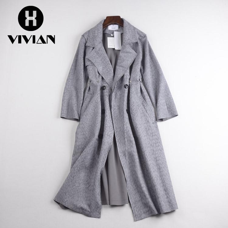 Mantel Wanita Model Potongan Longgar Lengan Panjang dengan Bahan Lace dan Warna Hitam Bergaya Retro |